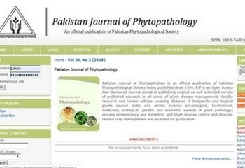 Pakistan Journal of Phytopathology
